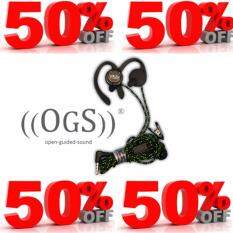 OGS SPORT EARPHONE W/MIC (GREY/GREEN)