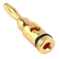 ขาย ซื้อ ออนไลน์ Oh 24Pcs Banana Plug Plugs Musical Audio Speaker Wire Cable Connector New