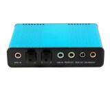 ซื้อ โอ 6 ช่อง 5 1 การ์ดเสียงอะแดปเตอร์แสงเสียงภายนอกสำหรับโน้ตบุ๊กพีซี Skype ใหม่ล่าสุด
