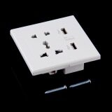 ราคา Oh Dual Usb Port Electric Wall Charger Dock Socket Power Outlet Panel Plate ใหม่