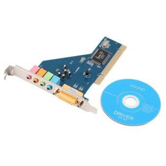 โอนิว 4 ช่อง 5.1 ล้อมรอบ 3D PCI ซาวด์การ์ดเสียงสำหรับพีซี Windows XP/ภาพ/7