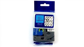 OK MAXWORK เทปพิมพ์อักษร 12 mm TZE Brother รุ่น TZE-131(TZ2-131)พื้นใส ตัวอักษรสีดำ