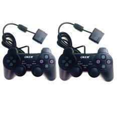 OKER 2set Gaming JoyStick for Playstation รุ่น PSII-709 จอยเกมส์ เพลย์าสอง แพ็คคู่ (สีดำ)