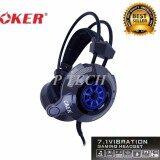 ส่วนลด Oker 7 1 Vibration Gaming Headset รุ่น X90 Oker