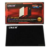 ซื้อ Oker Box Hard Drive St 2513 Usb 2 2 5 Sata External Hard Drive Enclosure กล่องใส่ฮาร์ดดิส Black ถูก