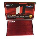 ซื้อ Oker Box Hard Drive St 2513 Usb 2 2 5 Sata External Hard Drive Enclosure กล่องใส่ฮาร์ดดิส Red
