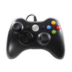 OKER จอยเกมส์ Xbox 360 รุ่น X36 (black)