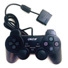 OKER Gaming JoyStick for Playstation รุ่น PSII-709 จอยเกมส์ เพลย์ 2 (สีดำ)