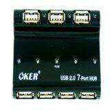 ซื้อ Oker Hub Usb 2 7 Port H901Ap With Adapter Black ถูก