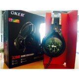 ทบทวน ที่สุด Oker หูฟังเกมมิ่ง Hi Fi Stereo Headphone Gaming Headset รุ่น X96 Black 7 Color Led