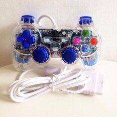 OKER JOY PSII Playstation2 จอยใช้กับเครื่องเพลย์ทู รุ่น PSII- 710 (สีน้ำเงินใส) Blue