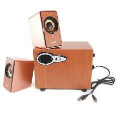 ขาย Oker ลำโพง Multimedia Speaker Micro 2 1 750W Sp 689 สีน้ำตาล Oker ใน ไทย