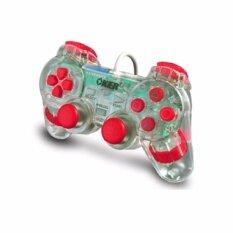 Oker จอยสำหรับเครื่อง Playstation2 JOY PSII รุ่น PSII-710 สีแดงไส
