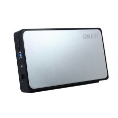 "OKER USB 3.0 SATA External Hard Drive Enclosure 3.5"" รุ่น ST- 3565 (Silver/Black)"