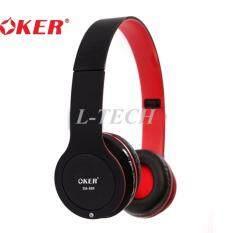 ส่วนลด Oker หูฟังบลูทูธ Wireless Headphones With Mic รุ่น Sm 889 Black Red Oker กรุงเทพมหานคร