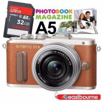 OLYMPUS PEN E-PL8 kit Lens 14-42mm. 16.1mp (สีน้ำตาล) + SD Card 32 GB มูลค่า890บาท + คูปองทำPhotobook Magazine ขนาดA5 1ใบ มูลค่า750บาท