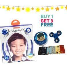 โปรโมชั่น หูฟังสำหรับเด็ก Onanoff Buddyphones Explore Foldable Blue