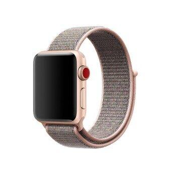 Ontube สำหรับแอ็ปเปิ้ลนาฬิกานาฬิกา วงดนตรีระบายอากาศได้นุ่มทอไนล่อนแทนกีฬาวงดนตรีสำหรับแอ็ปเปิ้ลซีรีส์ 3/2/1-นานาชาติ