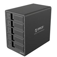 Orico  Aluminum USB 3.0 5 bay 3.5-inch SATA Hard Drive Support 5x 8TB Drive ( No Harddisk) กล่องอ่านฮาร์ดดิสก์อลูมิเนียม 5 ช่องเสียบ รุ่น 9558U3-BK (Black)