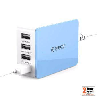 ORICO ปลั๊กชาร์จ USB 4 ช่อง CSI-4U-BL (20W) 2.4A Max (สีฟ้า)