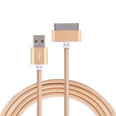 ขาย Original 1M Usb Metal Nylon Braided Sync Data Charging Charger Cable For Iphone 4 4S Ipad 2 3 Ipod Intl จีน ถูก