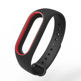 ทบทวน Original Mijobs Replace Silicon Strap For Xiaomi Mi Band 2 Replaceable Belt For Miband 2 Black With Red Intl