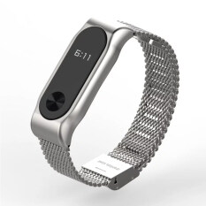 Original Mijobs Strap Belt For For Xiaomi Mi Band 2 Metal Strap Screwless Stainless Steel Bracelet For Miband 2 Wristbands Replace Accessories Smart Bracelet Silver Intl ใหม่ล่าสุด