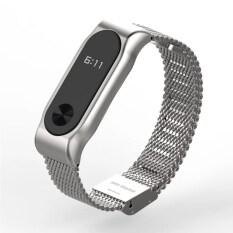 ขาย Original Mijobs Strap Belt For For Xiaomi Mi Band 2 Metal Strap Screwless Stainless Steel Bracelet For Miband 2 Wristbands Replace Accessories Smart Bracelet Silver Intl ราคาถูกที่สุด