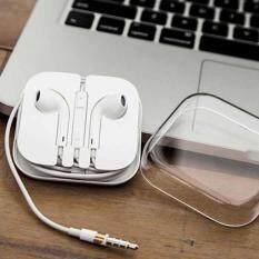 ราคา Apple White Earphones For Iphone6 6Plus Earphones หูฟังไอโฟน Iphone5 5S Ipad Ipod Earphone With Microphone Apple