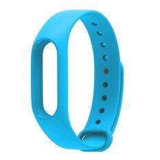 ซื้อ สายรัดข้อมือยางรัดสายนาฬิกาเป็นต้นสำหรับ Xiaomi Miband 2 สีน้ำเงิน Xiaomi ถูก