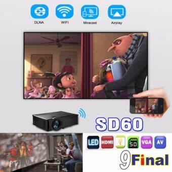 OWLENZ SD60 ( Black) By 9FINAL  Mini WIFI Projector โปรเจคเตอร์ 800*480 ความสว่าง 1,500 ลูเมน -
