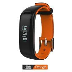 ขาย P1 Bluetooth 4 กันน้ำ Ip67 สมาร์ทสายรัดข้อมือ Smartband เลือด ความดัน Heart Rate Monitor สร้อยข้อมือสมาร์ทฟิตเนส Tracker วงดนตรีสมาร์ทสำหรับ Android และ Ios Orange จีน ถูก