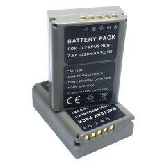 PACK2 แบตเตอรี่ BLN1 BLN-1 สำหรับกล้อง Olympu E-M5(grey)