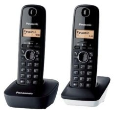 Panasonic โทรศัพท์ไร้สาย รุ่น Kx-Tg1612sp1 2 เครื่อง (สีดำ)
