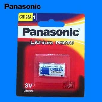 Panasonic ถ่านกล้องถ่ายรูป CR123A Lithium 3V - สีขาว (1 ก้อน) -