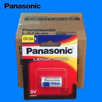 Panasonic ถ่านกล้องถ่ายรูป CR123A Lithium 3V - สีขาว (5 ก้อน / 10 ก้อน)(CR123A 5 ก้อน)  -