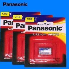 Panasonic ถ่านกล้องถ่ายรูป CR2 Lithium 3V - สีขาว (3 ก้อน)