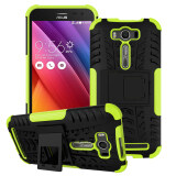 ซื้อ Pc Tpu Kickstand Combo Case For Asus Zenfone 2 Laser Ze500Kg Ze500Kl 5 Inch Green ใหม่