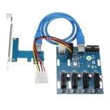 ส่วนลด Pci E 1X Expansion Kit 1 To 4 Ports Switch Multiplier Hub Riser Card Usb 3 V06 Intl