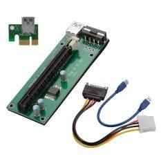 PCI-E 1X to 16X เครื่องขยายเสียง Extender Card Riser Card Adapter  พร้อมสายเคเบิล USB 3.0 30cm