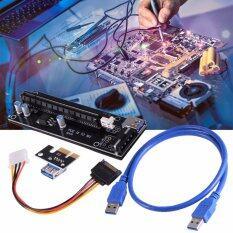อุปกรณเพิ่มหน่วยความจำ PCI-E 1X to 16X Mining Machine Enhanced Extender Riser Card Adapter