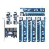 ราคา Pci E ถึง 4 ยูเอสบี 3 ตัวแปลงการ์ดและคู่สล็อต Pci E 6Pin การ์ด เป็นต้นฉบับ Unbranded Generic