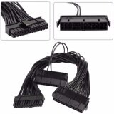 ราคา Pci E Express Power Cable 30Cm Dual Psu Power Supply Computer Atx 24 Pin Cable For Mining 24Pin 20 4Pin Dual Black ที่สุด