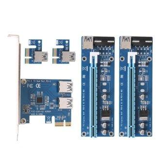 PCI-e to Dual USB 3.0 Converter Card and Dual PCI-e Slot 4Pin Bitcion Mining Adapter Card