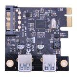 ซื้อ Pci E To Usb3 การ์ดเชื่อมต่อ Dual Port Pci Express การ์ดเชื่อมต่อ 19Pin Vakind ถูก