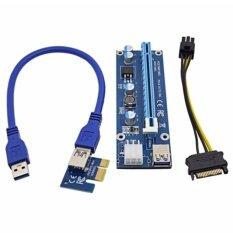 ราคา Pci Express Riser Card Pci E Usb 3 Data Cable Sata To 6Pin ถูก