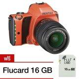 ซื้อ Pentax K S1 Dslr Camera With 18 55Mm Lens Orange แถม Flucard 16 Gb