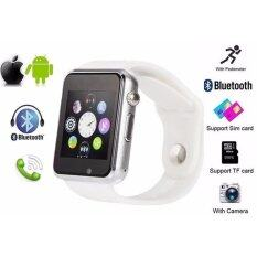 ซื้อ Person นาฬิกาโทรศัพท์ Bluetooth Smart Watch รุ่น A8 Phone Watch White ออนไลน์