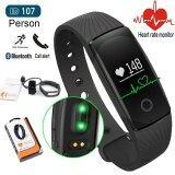 ขาย Person วัดอัตราการเต้นหัวใจ ฟิตเนส นาฬิกาสุขภาพอัจฉริยะ ติดตามกิจกรรม Heart Rate Monitor Wristband Fitness Tracker สายรัดข้อมือ สำหรับ Android Ios Smartphone รุ่น Id107Hr Black Person เป็นต้นฉบับ