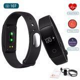 ขาย Echo วัดอัตราการเต้นหัวใจ ฟิตเนส นาฬิกาสุขภาพอัจฉริยะ ติดตามกิจกรรม Heart Rate Monitor Wristband Smart Watch Fitness Tracker รุ่น Id107Hr Black ราคาถูกที่สุด
